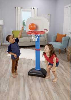 Little Tikes Easy Score Basketball Set, Blue, 3 Balls