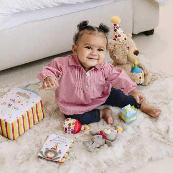 Baby GUND My First Birthday Stuffed Plush Playset, 5 Pieces