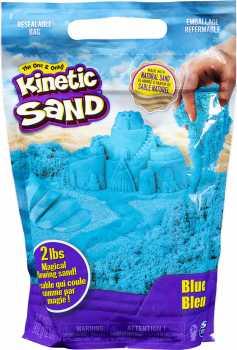 Kinetic Sand The Original Moldable Sensory Play Sand, Blue, 2 Pounds