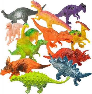 Prextex Realistic Looking 7inch Dinosaurs Pack of 12 Toys
