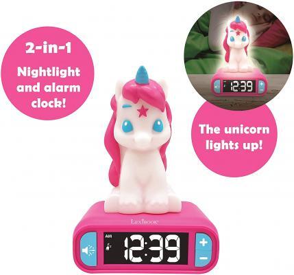 LEXiBOOK Unicorn Digital Alarm Clock for Kids