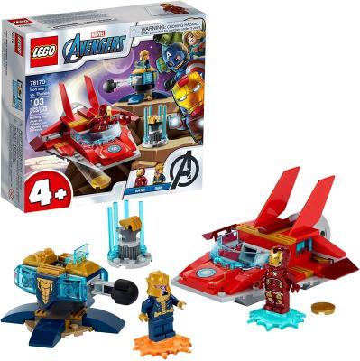 LEGO Marvel Avengers Iron Man vs. Thanos 76170 Superhero Building Toy (103 Pieces)