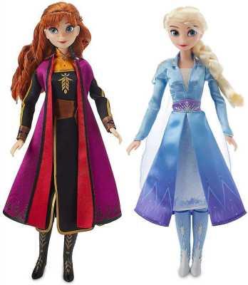 Anna & Elsa Singing Doll Set Frozen Both Dolls