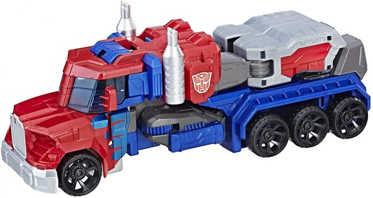 Transformers Toys Heroic Optimus Prime Action Figure - Timeless Large-Scale Figure, Changes into Toy Truck - Toys for Kids 6 and Up, 11-inch