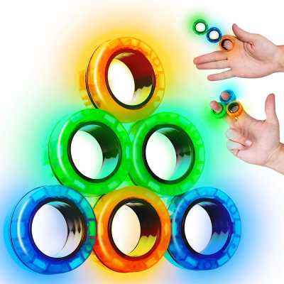 SCRATCHIEZ Magnetic Rings Fidget Toys for Adults and Children