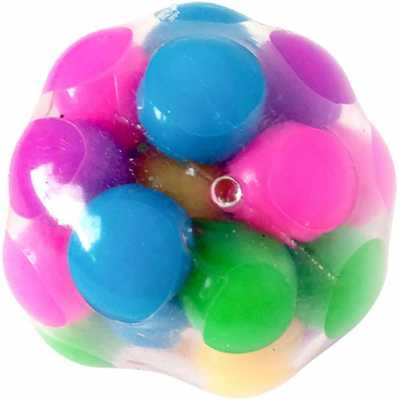 Squeeze Ball Toy, Squishy Stress Balls with Colorful Beads