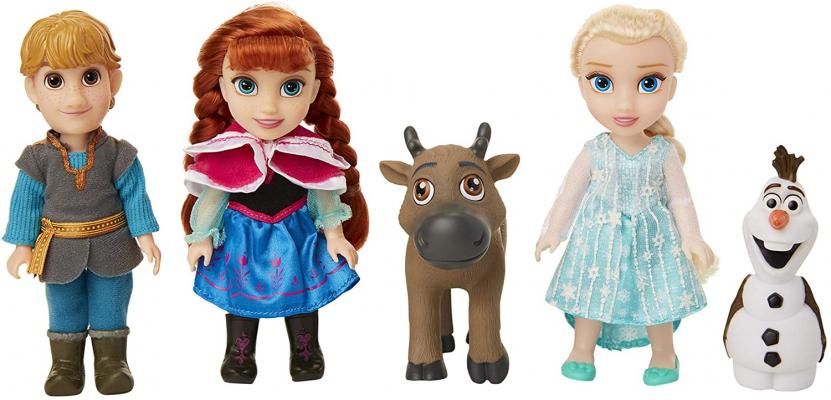 Disney Frozen Deluxe Petite Doll Gift Set - Includes Anna, Elsa, Kristoff, Sven and Olaf
