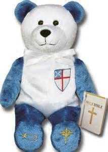 Holy Bears, Episcopal Bear, Holy Bible Bear, Stuffed Animal. 8inch Episcopal Bear.