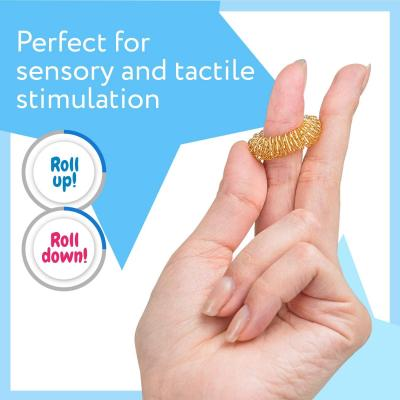 Spiky Sensory Finger Acupressure Rings (Pack of 10) - Great Spikey Fidget Toy
