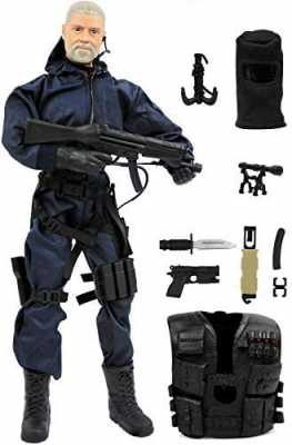 Click N Play Police Unit Swat Assaulter 12inch Action Figure Play Set with Accessories