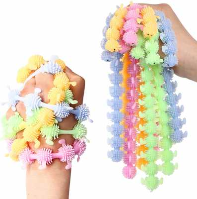 8Pcs Sensory Fidget Toys for Kids,Monkey Noodle Stretchy Strings Fidget Toys