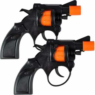 ArtCreativity Shot Cap Revolver Toy Gun for Kids, Set of 2, Cool Shooter Toys for Boys and Girls