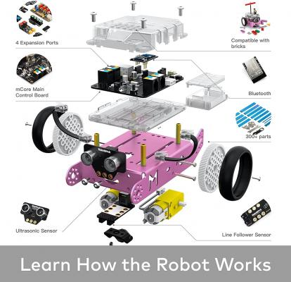 Makeblock mBot Pink Robot Kit Arduino/Scratch Coding, STEM