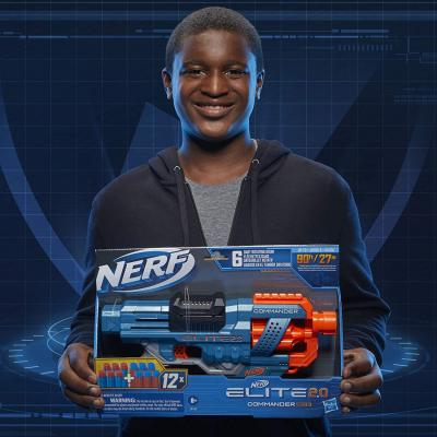 NERF Elite 2.0 Commander RD-6 Blaster, 12 Official Darts