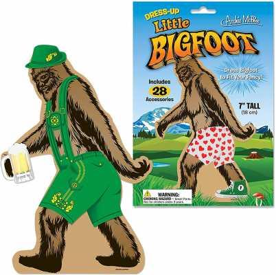 Dress Up Bigfoot Vinyl Clings
