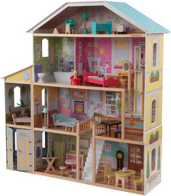 KidKraft KidKraft Majestic Mansion Wooden Dollhouse with 34-Piece Accessories, Working Elevator and Garage