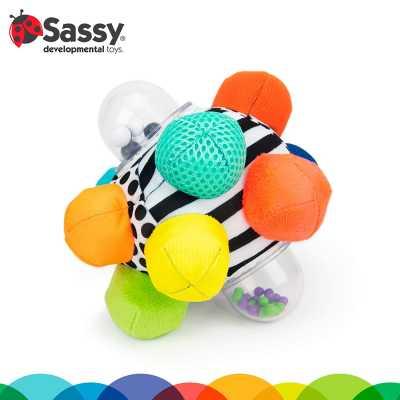 Sassy Developmental Bumpy Ball | Easy to Grasp Bumps Help Develop Motor Skills