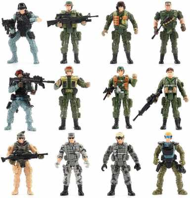 US Army Men and SWAT Team Toy Soldiers Action Figures Playset with Military Weapons