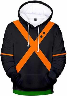 Bakugou Katsuki Hoodie Thick Hooded Sweatshirt Pullover