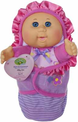 Cabbage Patch Kids Official, Newborn Baby Doll Girl - Comes with Swaddle Blanket and Unique Adoption Birth Announcement