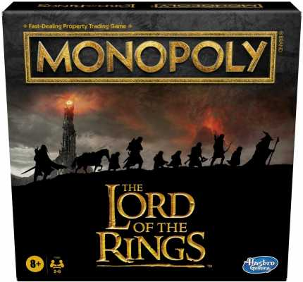 Hasbro Gaming Monopoly: The Lord of The Rings Edition Board Game