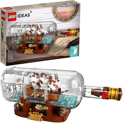 LEGO Ideas Ship in a Bottle 92177 Expert Building Kit, Snap Together Model Ship, Collectible Display Set and Toy for Adults