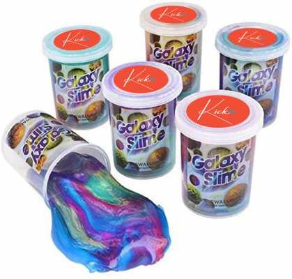 Kicko Marbled Unicorn Color Slime - Pack of 6