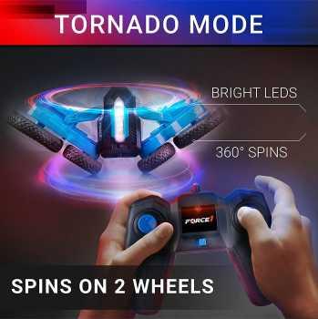 Force1 Tornado LED RC Car, 4WD Off-Road Stunt Car