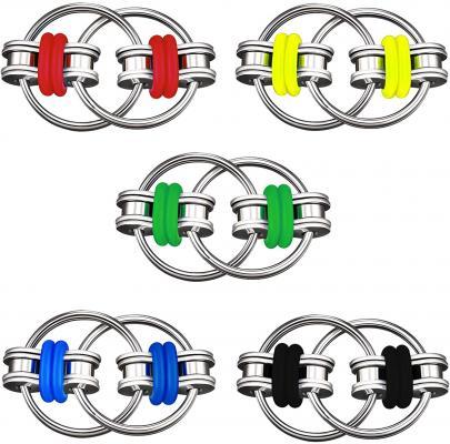 Vanblue 5Pcs Bike Chain Fidget Toy