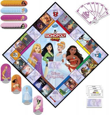 Monopoly Junior: Disney Princess Edition Board Game for Kids
