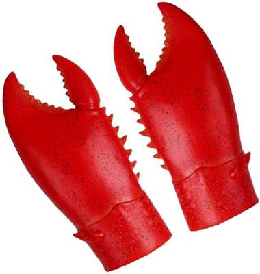 Claws Shrimp Costume Props Novelty Toy Animal Cosplay Latex Crab Pincers Gloves 1 Pair