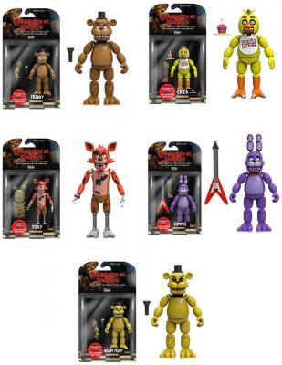 Five Nights at Freddy's Set of 5 - Freddy, Chica, Foxy, Bonnie, Gold Freddy FNAF