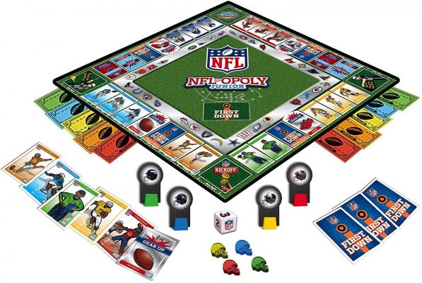 MasterPieces NFL-Opoly Junior Board Game, Collector's Edition Set, For 2-4 Players