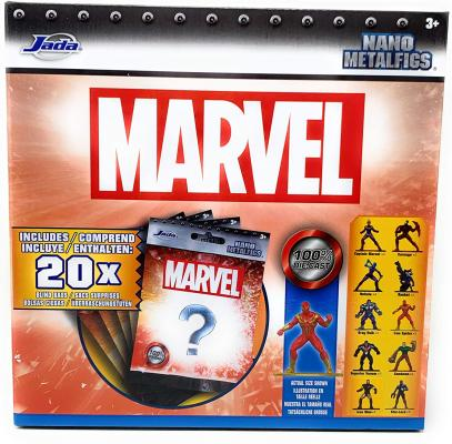 Nano Metalfigs Marvel 100% Die Cast Collectible Blind Bags of Mystery Figures - 20 Blind Bags Total