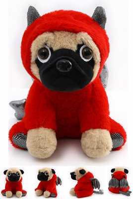 Pug Stuffed Animal, Pug Dog Wearing Cute Costume