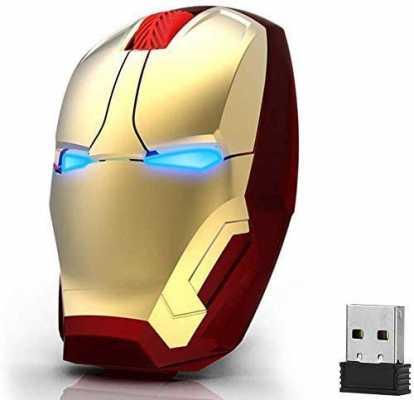 Ergonomic Wireless Mouse Cool Iron Man Mouse 2.4 G Portable