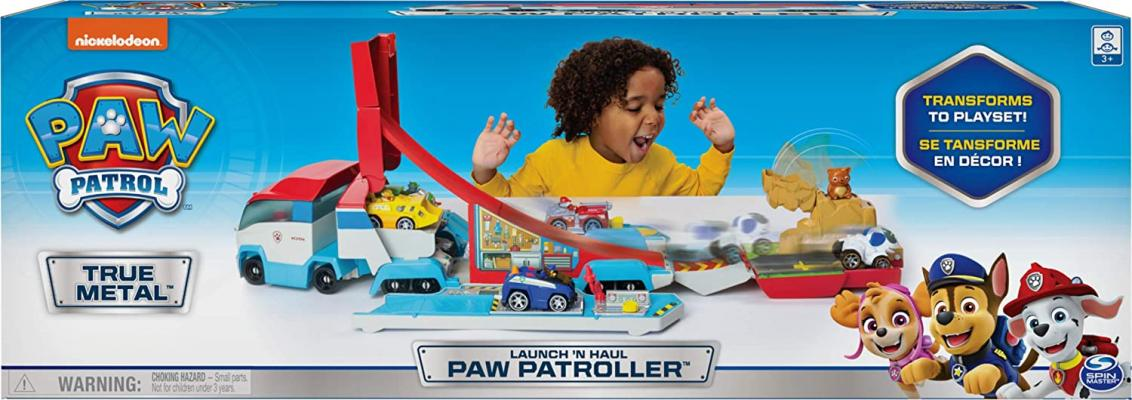 Paw Patrol, Launch'N Haul PAW Patroller, Transforming 2-in-1 Track Set for True Metal Die-Cast Vehicles