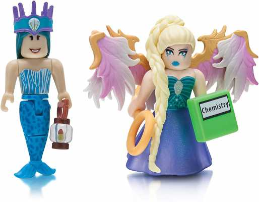Roblox Celebrity Collection - Neverland Lagoon: Crown Collector + Royale High School: Enchantress Two Figure Bundle [Includes 2 Exclusive Virtual Items]