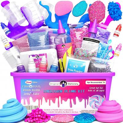 Original Stationery Unicorn Slime Kit Supplies Stuff for Girls Making Slime
