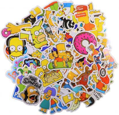 Cartoon Sticker Pack (66Pcs) The Simpson Waterproof Vinyl Stickers