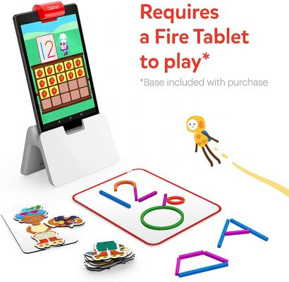 Osmo - Little Genius Starter Kit for Fire Tablet + Early Math Adventure - 6 Educational Games