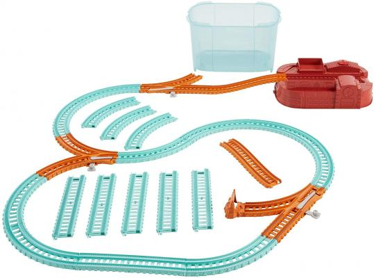 Thomas & Friends TrackMaster Builder Bucket, Storage Container With 25 Train Track and Play Pieces