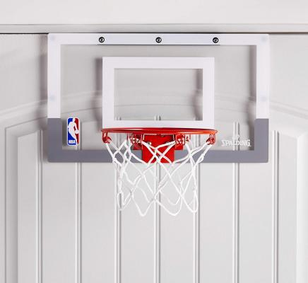 NBA Jam Over-The-Door Mini Basketball Hoop White/Orange, 18 x 10.5