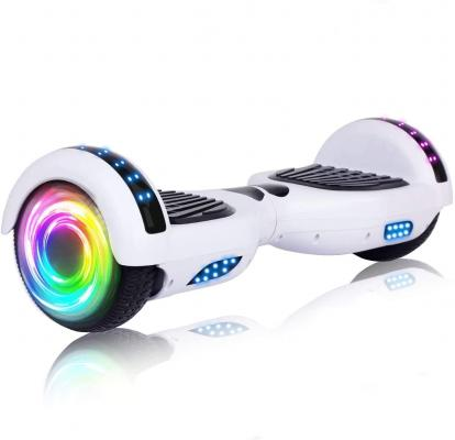SISIGAD Hoverboard, with Bluetooth and Colorful Lights Self Balancing Scooter