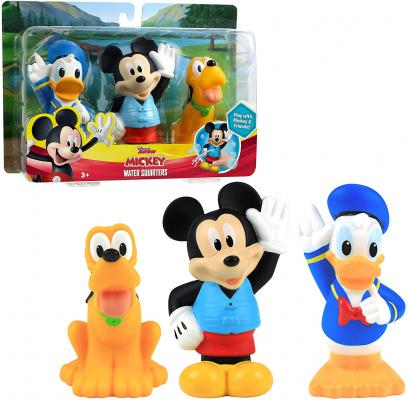 Disney Junior Mickey Mouse Bath Toy Set, Includes Mickey Mouse, Donald Duck, and Pluto