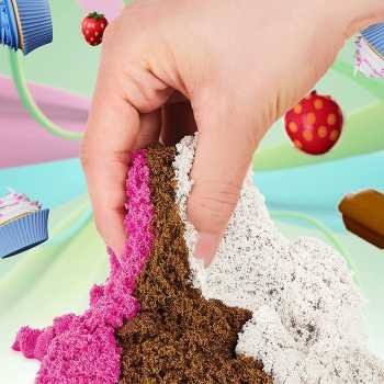 Kinetic Sand Scents, Ice Cream Treats Playset with 3 Colors