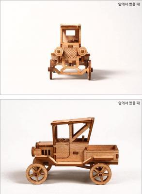 Desktop Wooden Model Kit Ford T Pickup Truck by Young Modeler