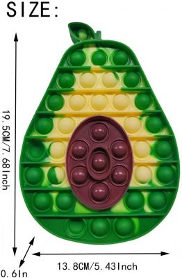 Avocado Pop its Popper Stress Relief Fidget Toy Squeeze Bubbles