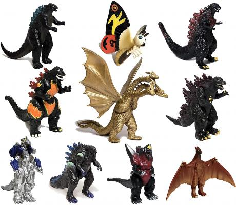 EZFun Set of 10 Godzilla Toys with Carry Bag, Movable Joint Action Figures 2019