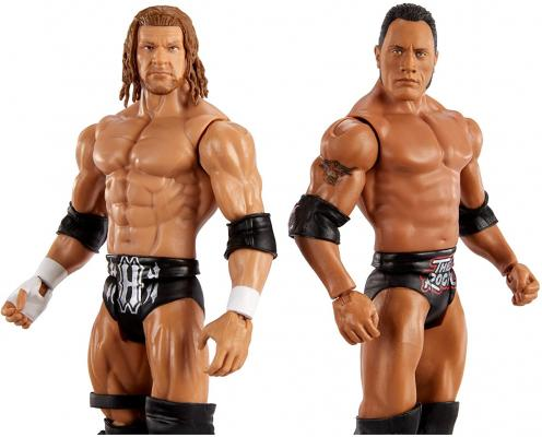 WWE The Rock vs Triple H Championship Showdown 2 Pack 6 in Action Figures